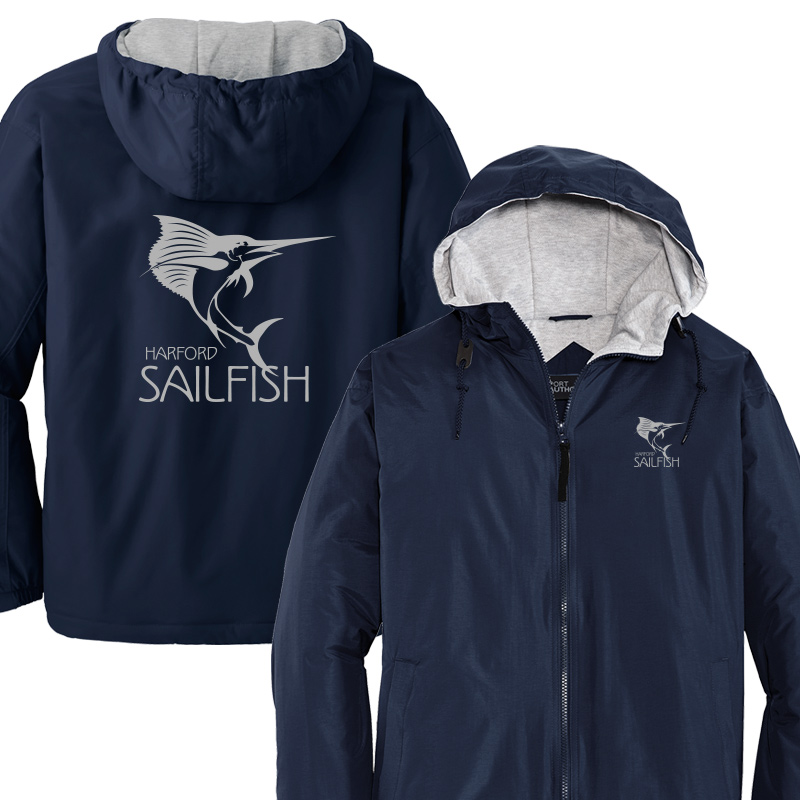 Harford Sailfish Adult/Youth  Hooded Team Jacket - Navy