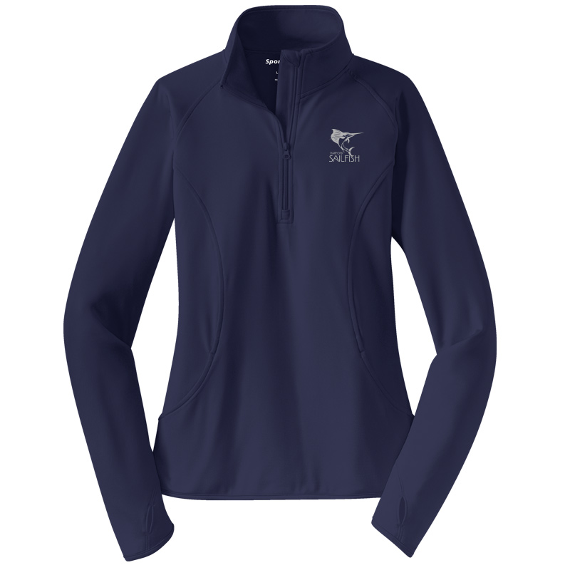 Harford Sailfish  Ladies Sport-Wick® Stretch 1/2-Zip Pullover - Navy