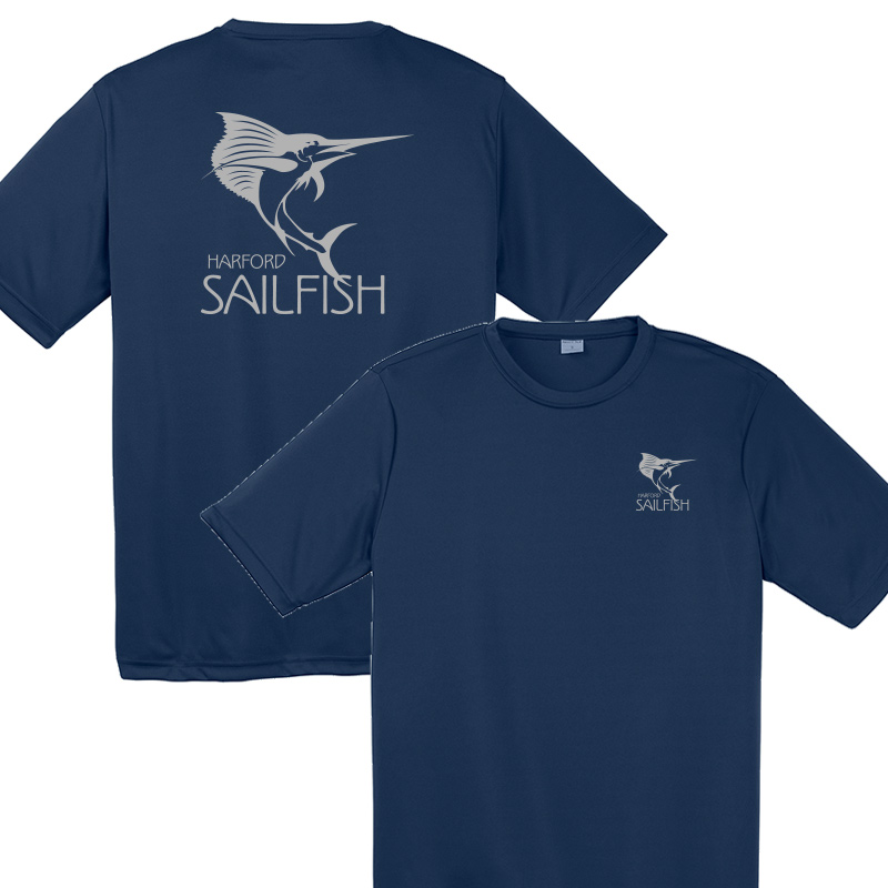 Harford Sailfish Moisture Wicking Tshirt - Navy