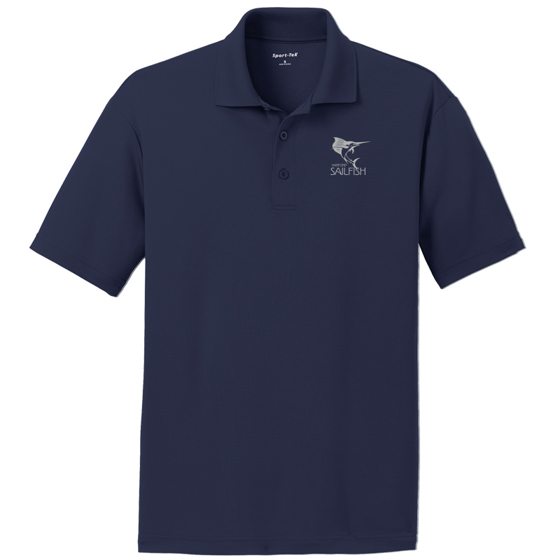 Harford Sailfish Mens Moisture Wicking Polo - Navy