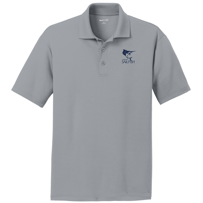 Harford Sailfish Mens Moisture Wicking Polo - Silver