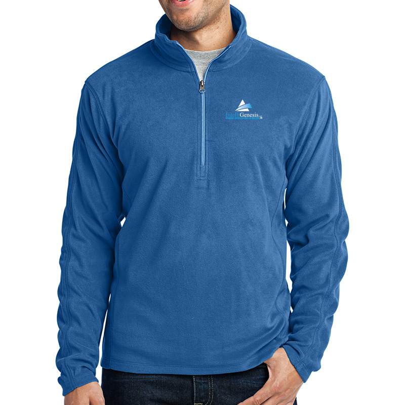 IntelliGenesis Port Authority Microfleece ½ Zip Pullover - True Royal