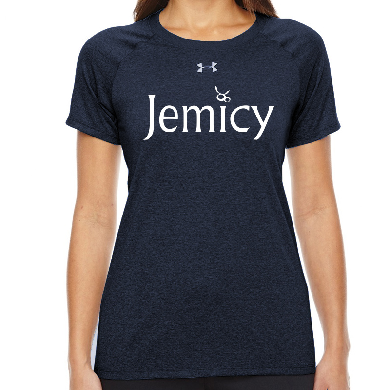 Jemicy Text  Under Armour Ladies' Locker T-Shirt - Navy