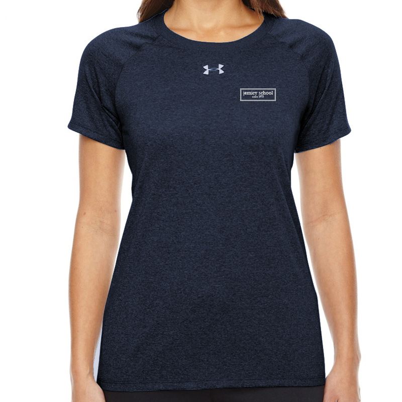 Jemicy EST.  Under Armour Ladies' Locker T-Shirt - Navy