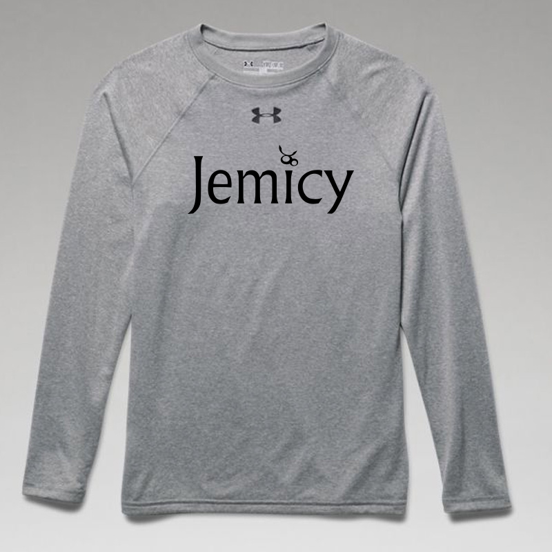 Jemicy Text Boys Ua Locker Tee Long Sleeve -  True Gray