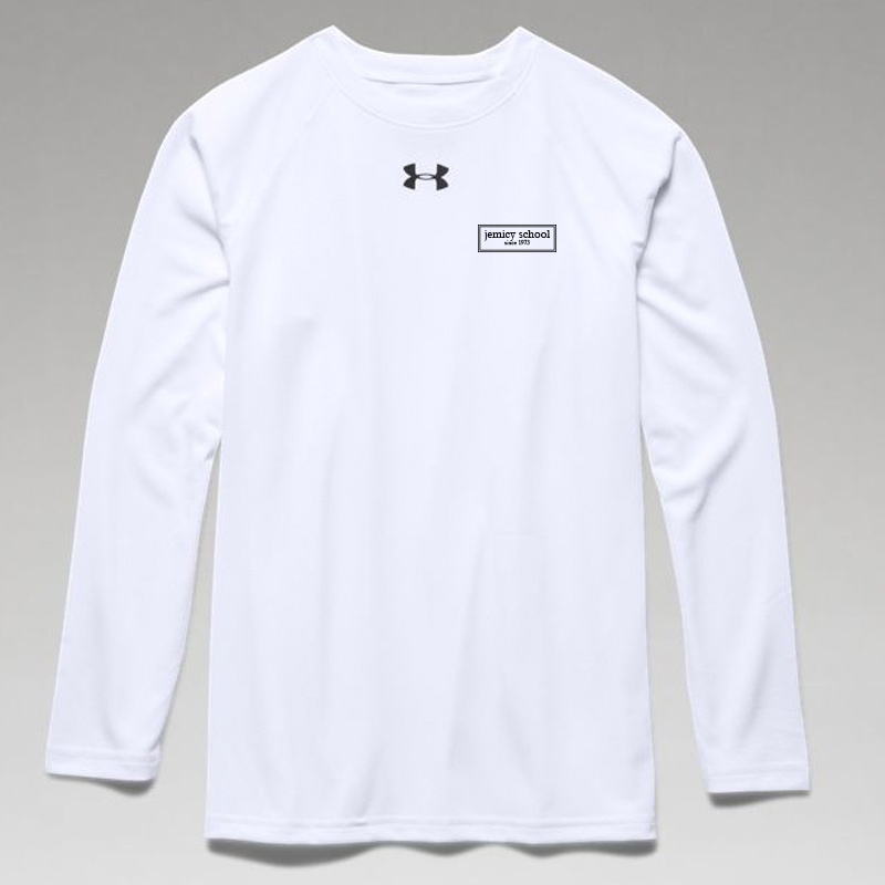 Jemicy EST. Boys Ua Locker Tee Long Sleeve - White