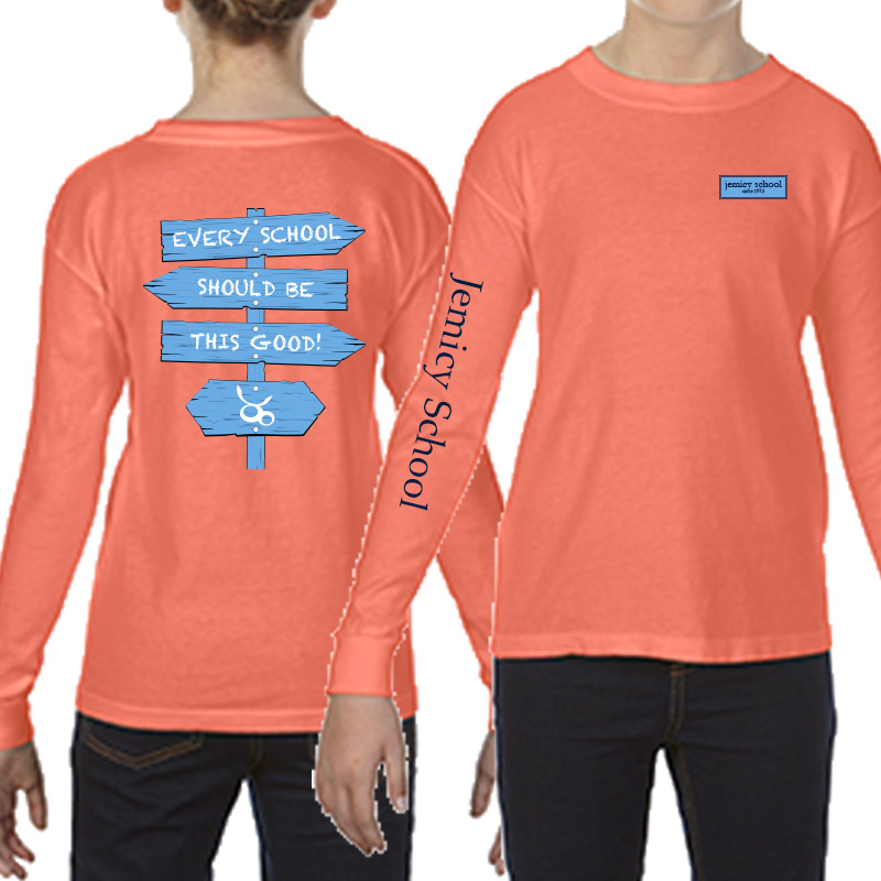 Jemicy Comfort Colors Long Sleeve Yth -  Salmon