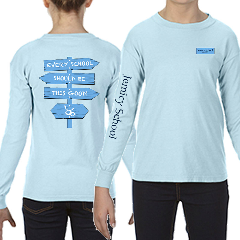 Jemicy Comfort Colors Long Sleeve Yth - Chambray
