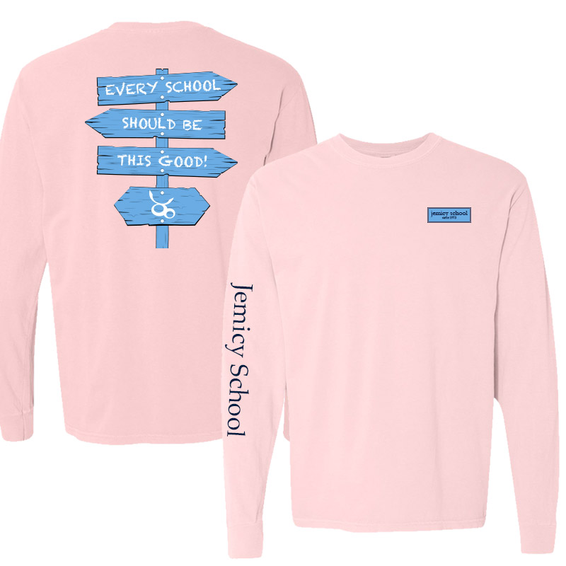Jemicy Comfort Colors Long Sleeve Pocket Adult -  Blossom