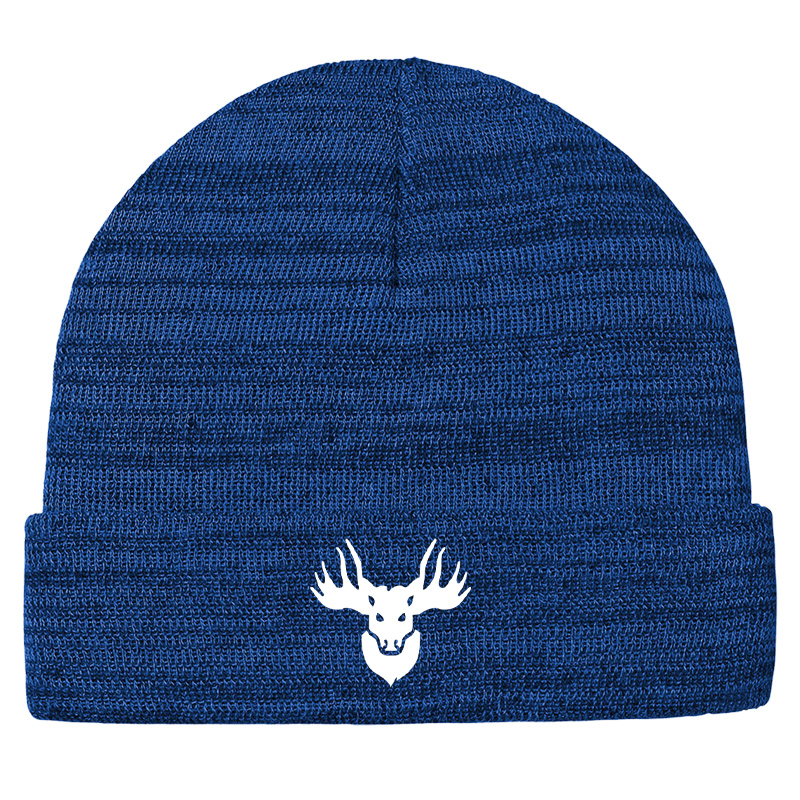 Jemicy Faculty Moose   Knit Cuff Beanie  - True Royal Heather