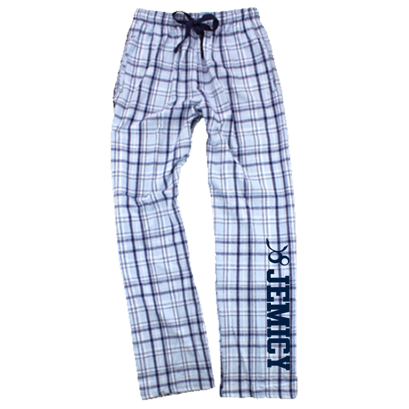 Jemicy Flannel Pant - Carolina Blue and Navy