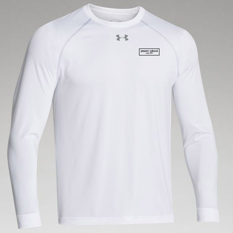 Jemicy EST. Mens Ua Locker Tee Long Sleeve - White