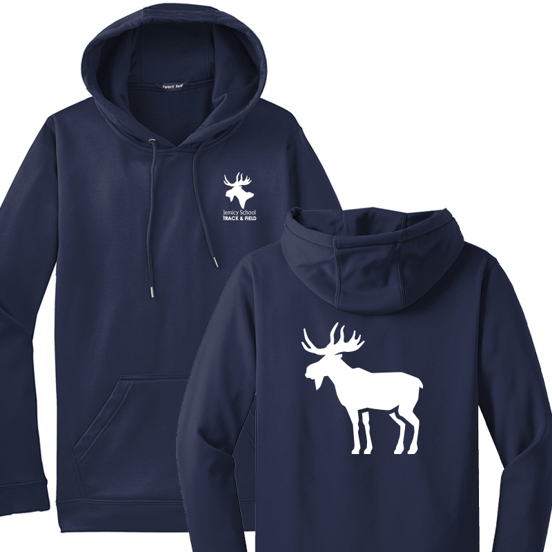 Jemicy Track and Field  Fleece Hooded Pullover - Navy