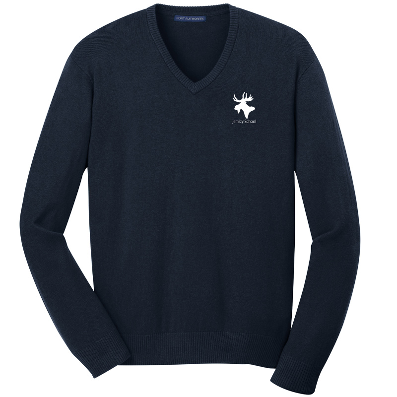Jemicy Moose V-Neck Sweater– Navy