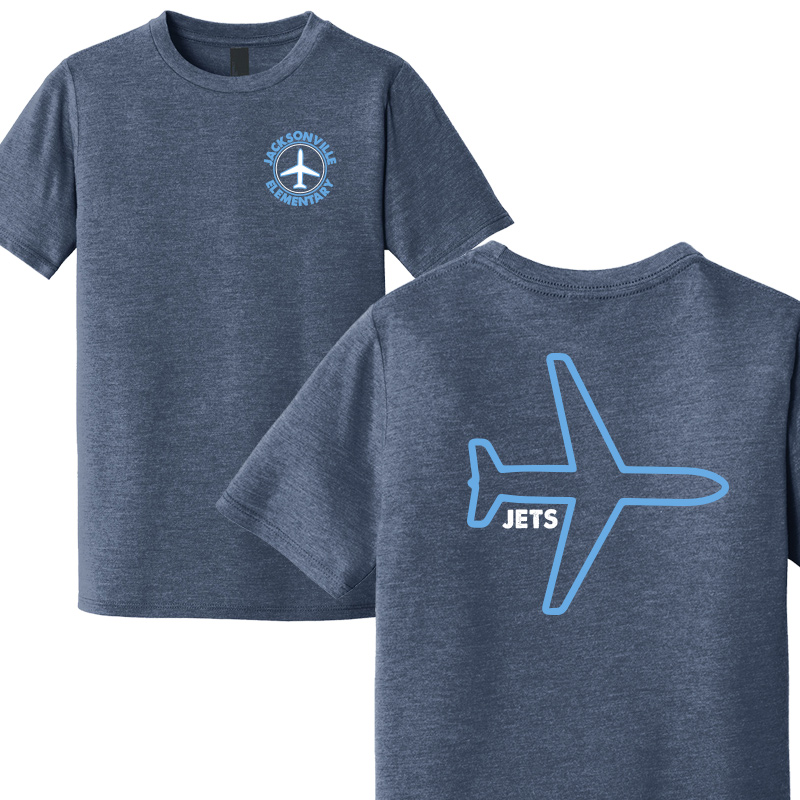 JES Plane Youth Short Sleeve  - Navy Frost