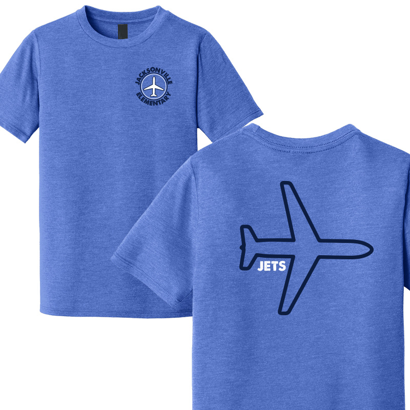 JES Plane Youth Short Sleeve  - Royal Frost