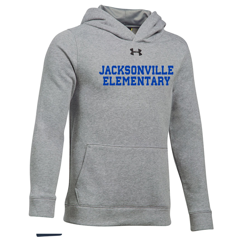 Jacksonville Elementary  UA Hustle Fleece Hoody - True Grey