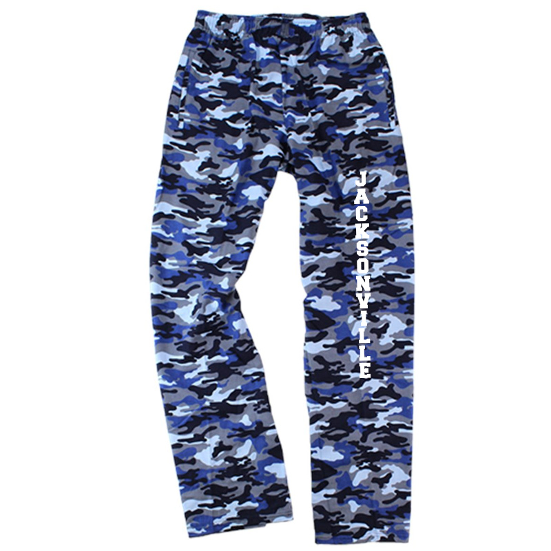 Jacksonville Elementary  Flannel Pants with Pockets  - Blue Camo