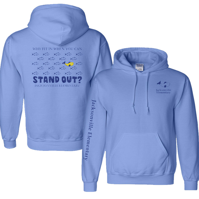 JES Standout Adult DryBlend 9.0 oz., 50/50 Hood - Carolina Blue