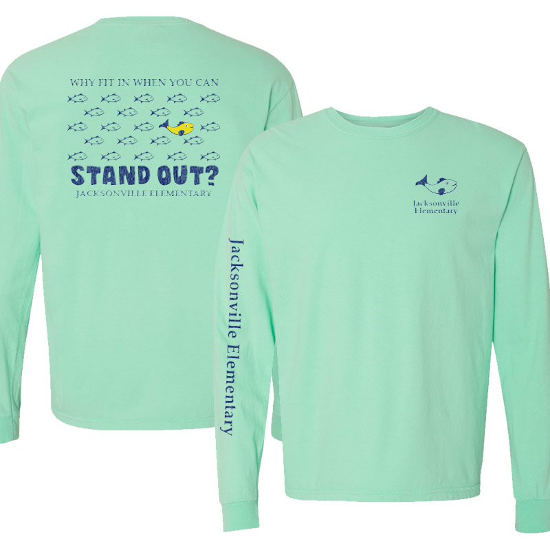 JES Standout Adult Long-Sleeve T-Shirt - island reef