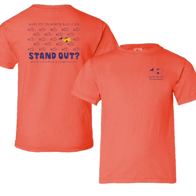 JES Standout Adult Short-Sleeve T-Shirt - salmon