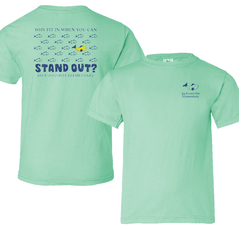 JES Standout Adult Short-Sleeve T-Shirt - island reef