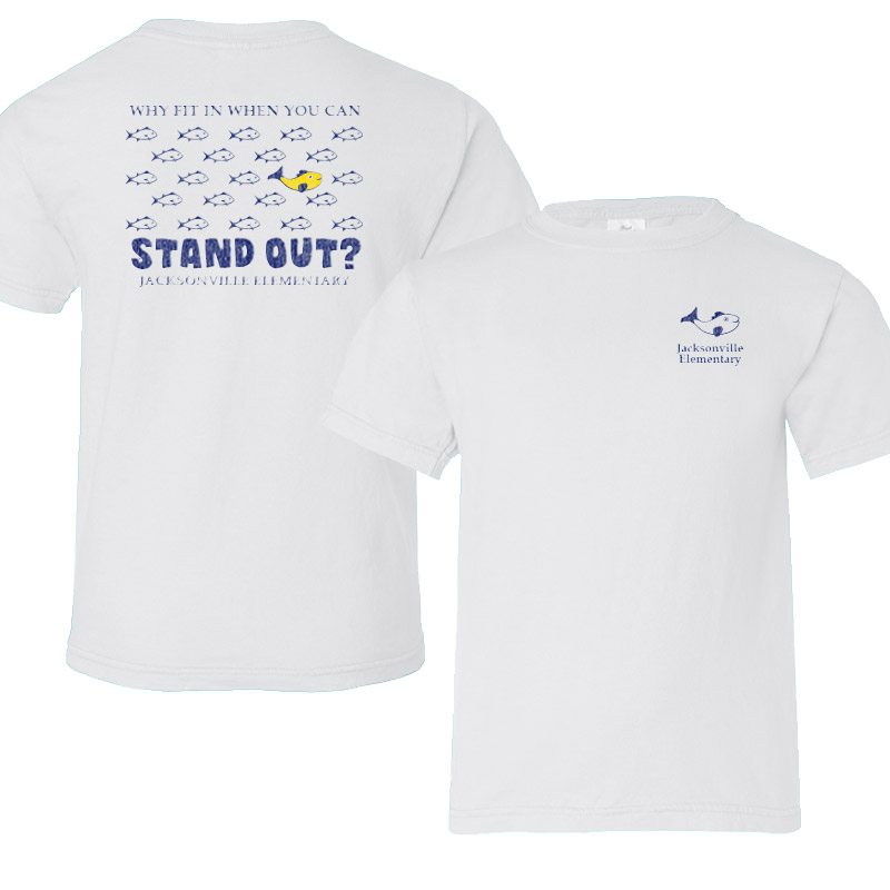 JES Standout Adult Short-Sleeve T-Shirt - white