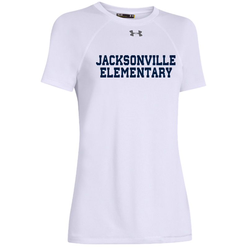 Jacksonville Elementary Text  Under Armour Ladies' Locker T-Shirt