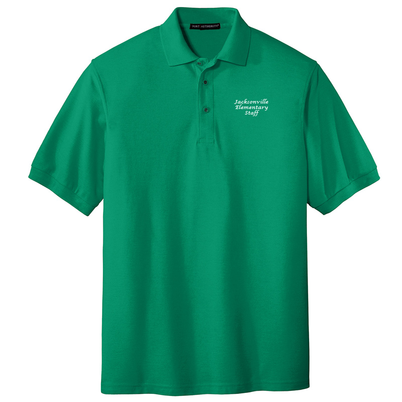 JES  Silk Touch Polo - Kelly Green