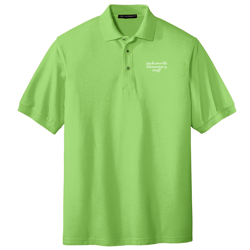 JES  Silk Touch Polo - Lime