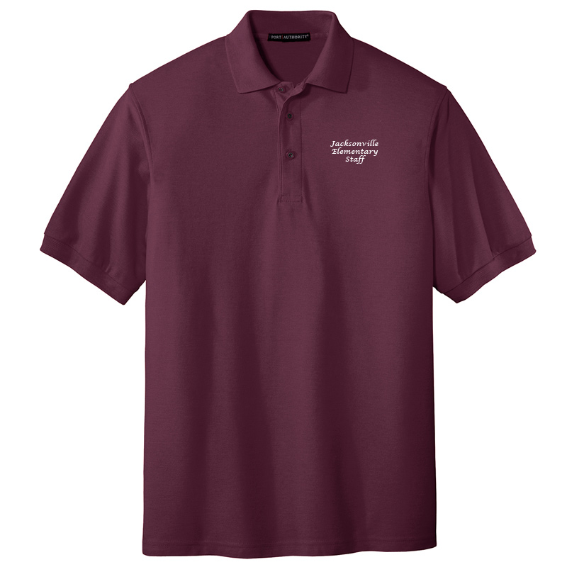 JES  Silk Touch Polo - Maroon