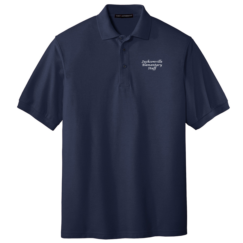 JES  Silk Touch Polo - Navy