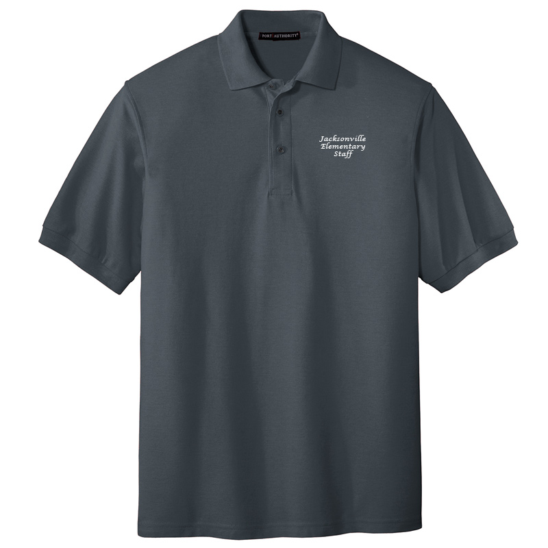 JES  Silk Touch Polo - Steel Grey