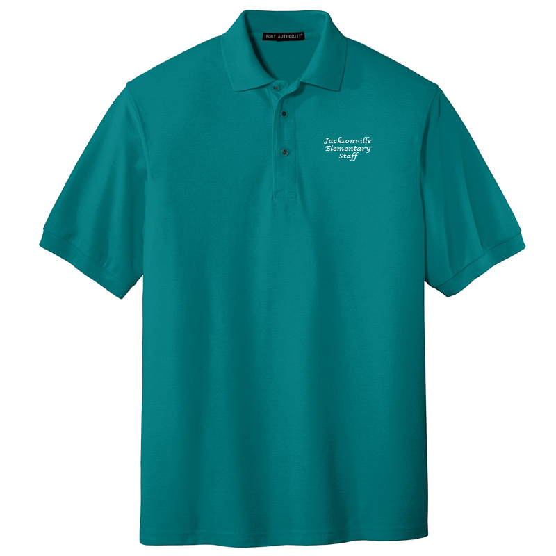 JES  Silk Touch Polo - Teal Green