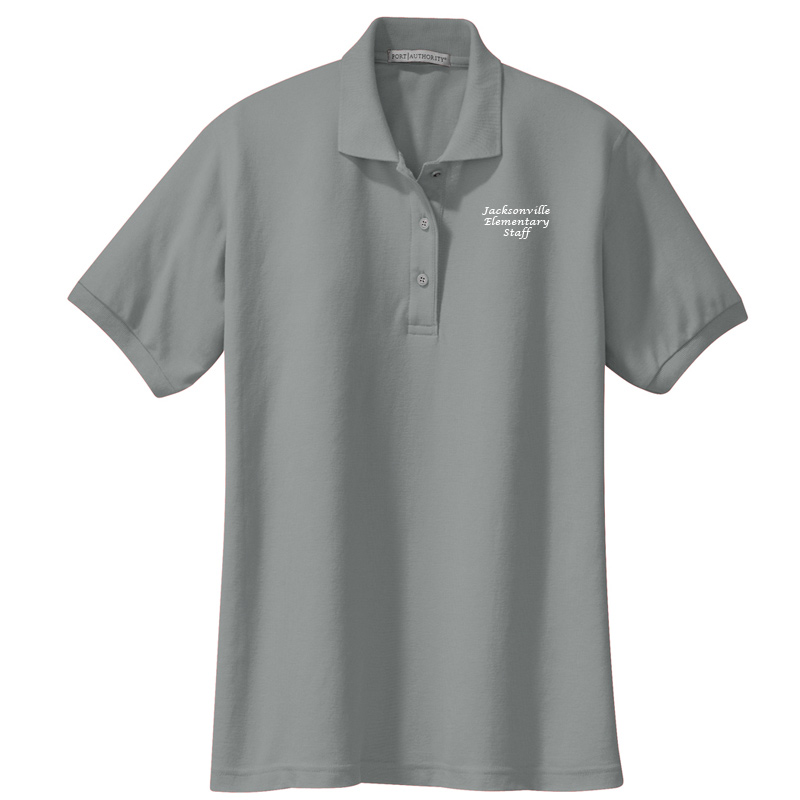 JES  Ladies Silk Touch Polo - Cool Grey