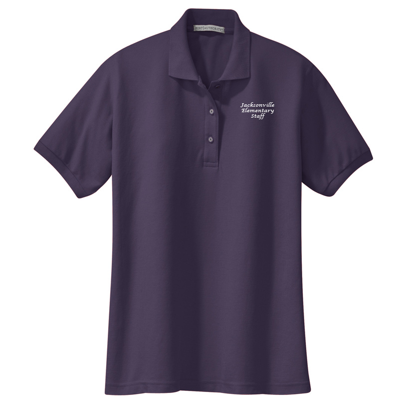 JES  Ladies Silk Touch Polo - Eggplant