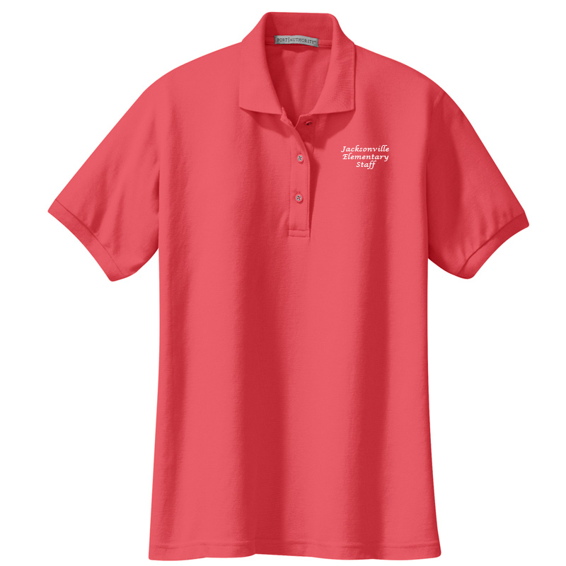 JES  Ladies Silk Touch Polo - Hibiscus