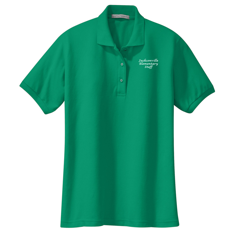 JES  Ladies Silk Touch Polo - Kelly Green