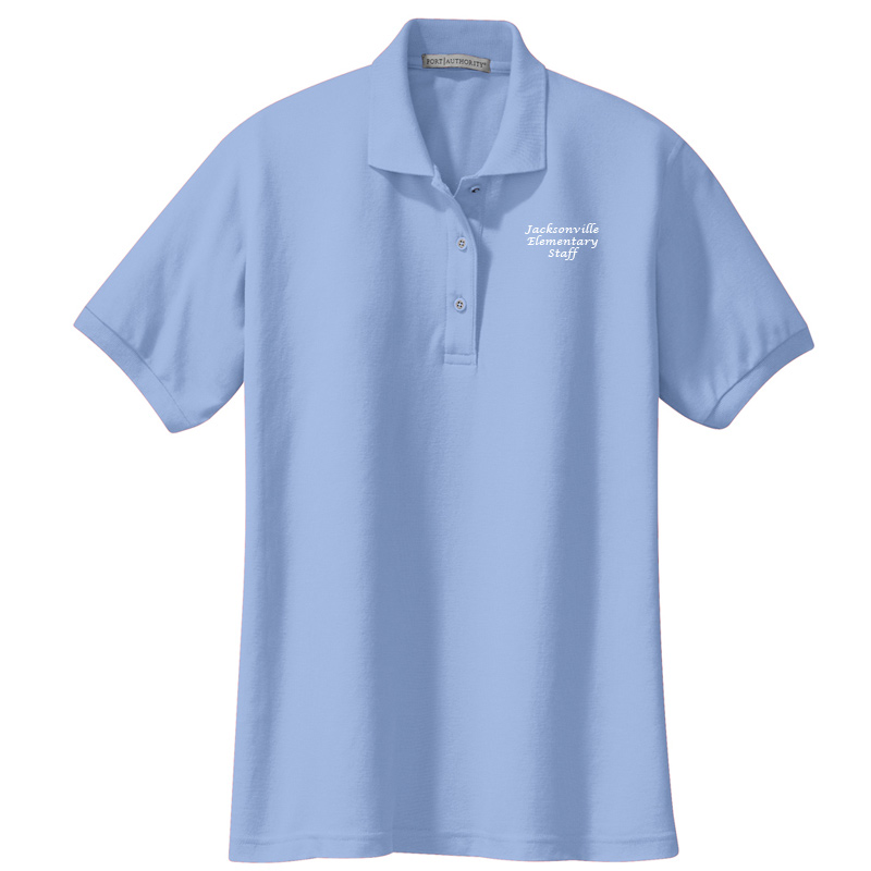 JES  Ladies Silk Touch Polo - Light Blue