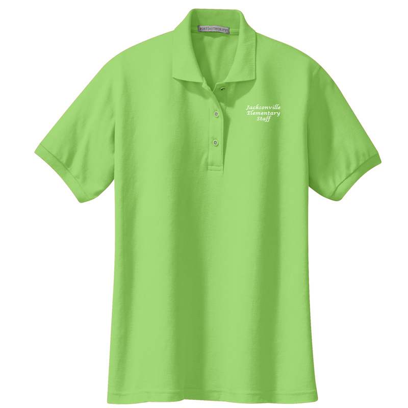 JES  Ladies Silk Touch Polo - Lime