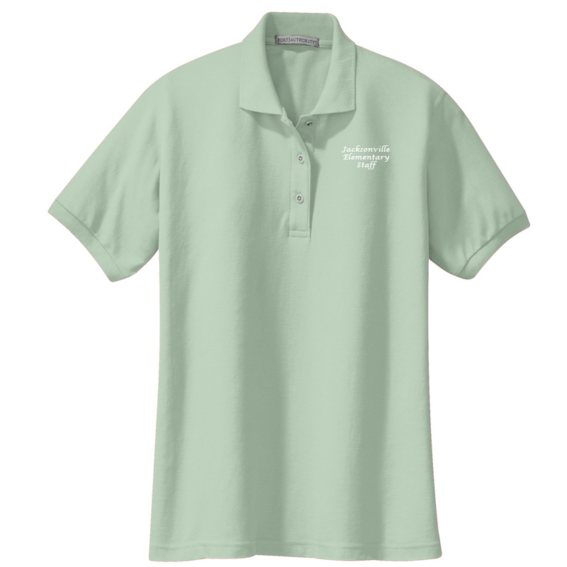 JES  Ladies Silk Touch Polo - Mint Green