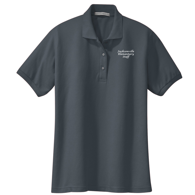 JES  Ladies Silk Touch Polo - Steel Grey