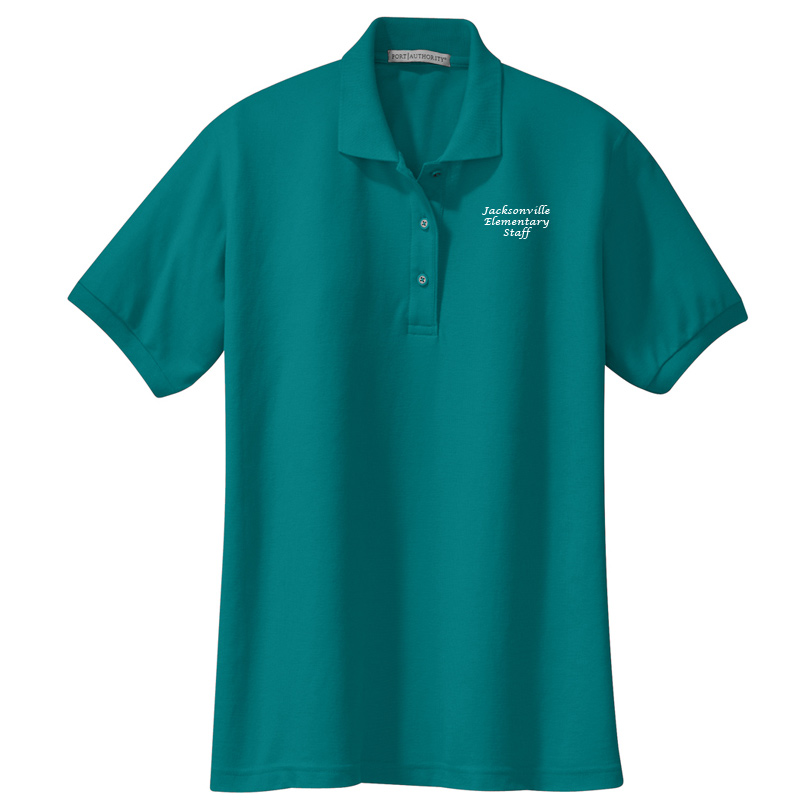 JES  Ladies Silk Touch Polo - Teal Green