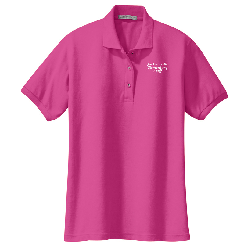 JES  Ladies Silk Touch Polo - Tropical Pink