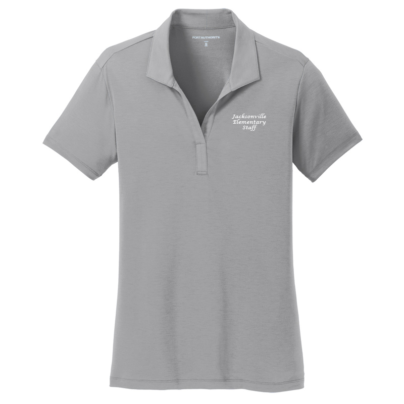 JES  Ladies Cotton Touch Polo - Frost Grey