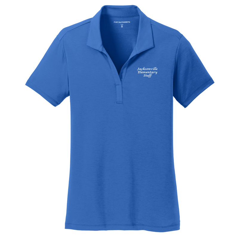 JES  Ladies Cotton Touch Polo - Strong Blue
