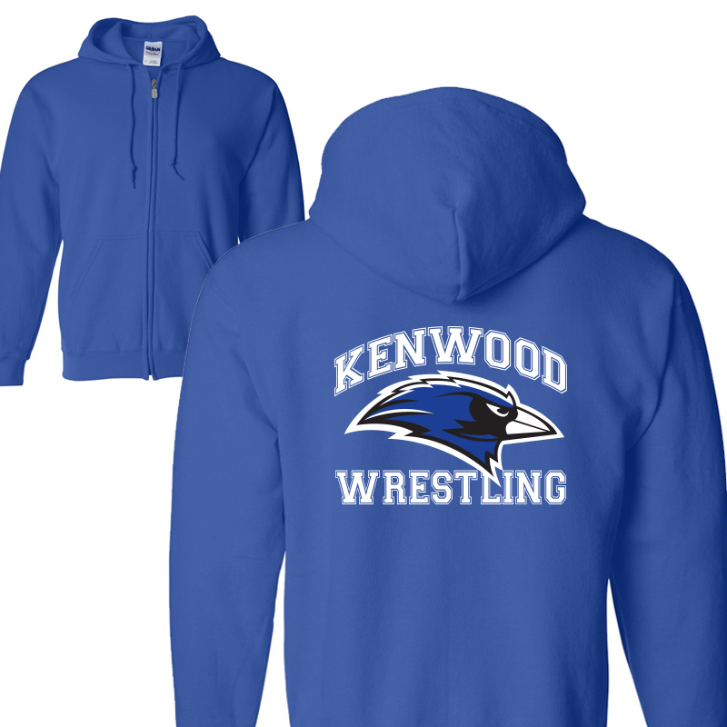 Kenwood Wrestling Full-Zip Hoodie - Royal