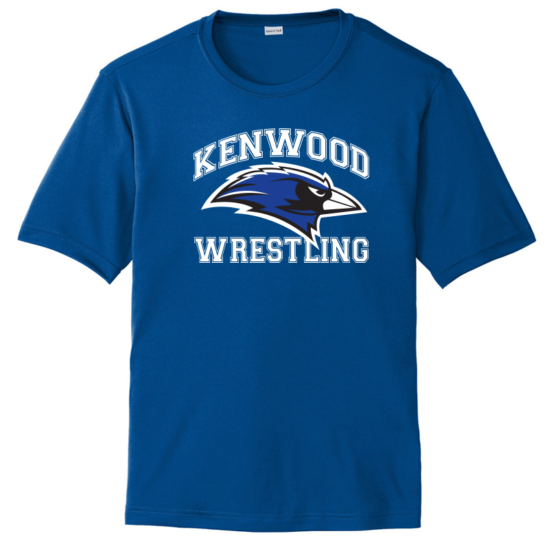 Kenwood Wrestling Moisture Wicking Short Sleeve Tshirt - Royal