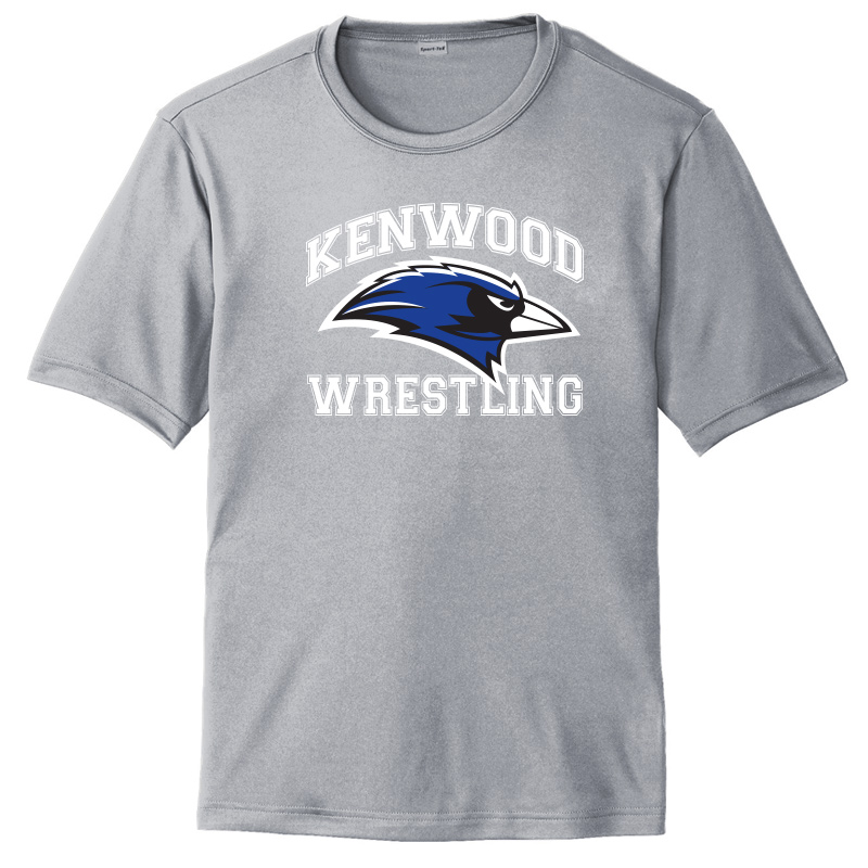 Kenwood Wrestling Moisture Wicking Short Sleeve Tshirt - Sport Grey