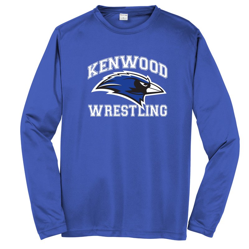 Kenwood Wrestling Wicking Long Sleeve Tshirt - Royal